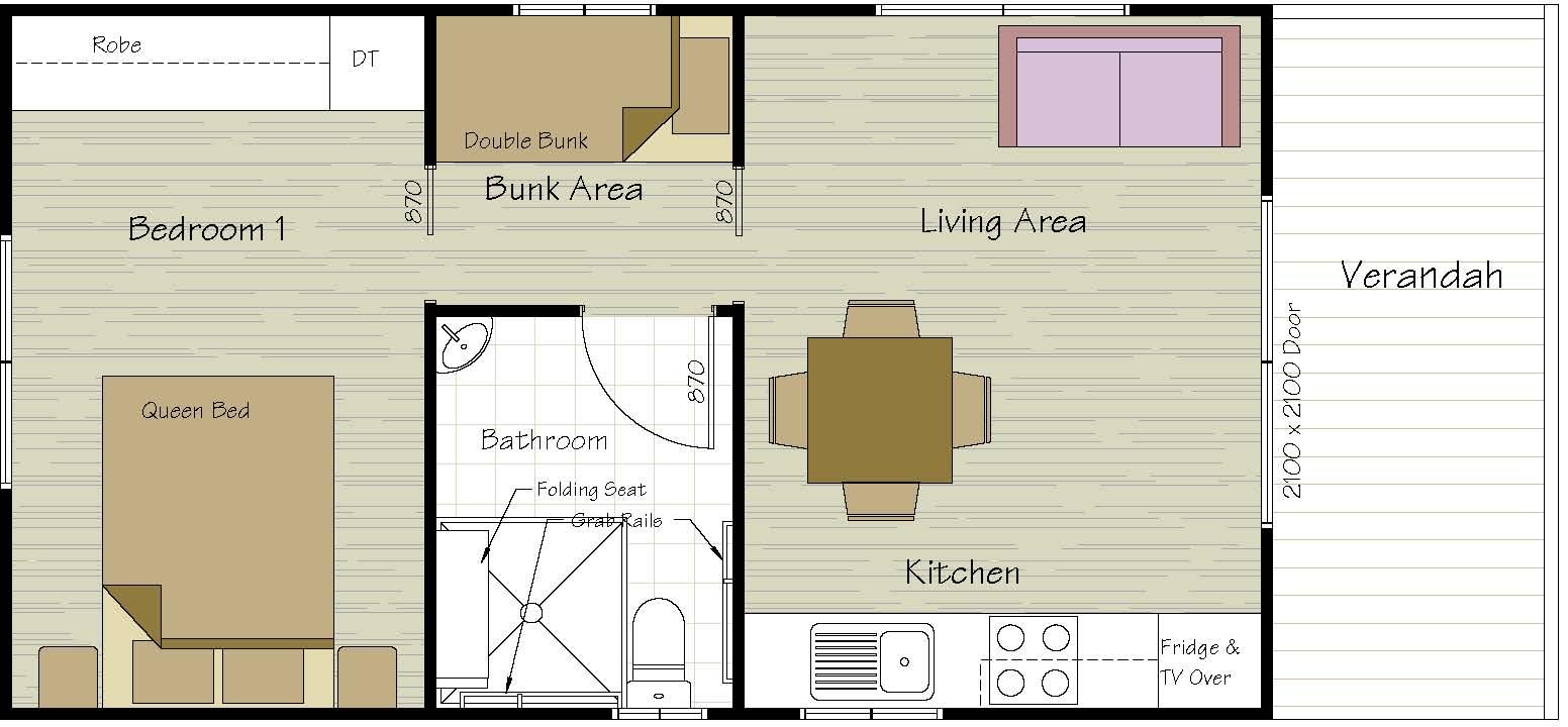 4 Berth Disabled Cabin